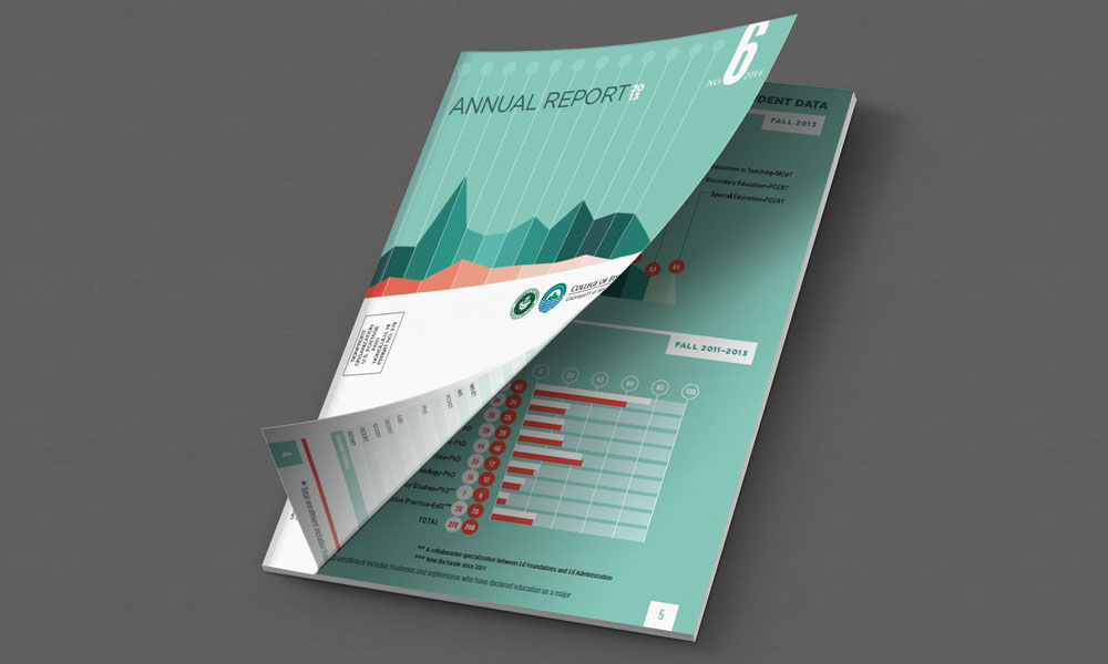 annual report graphic design layout