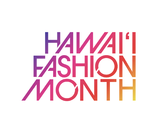 hawaii fashion month brand logo graphic design