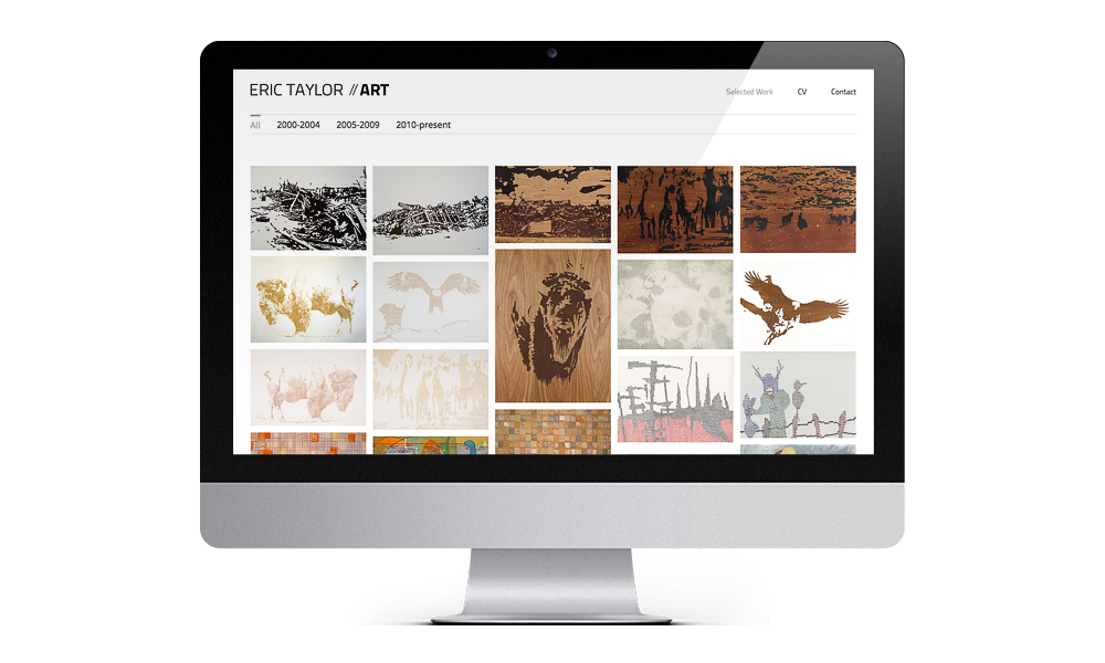 eric taylor the artist web interface design layout