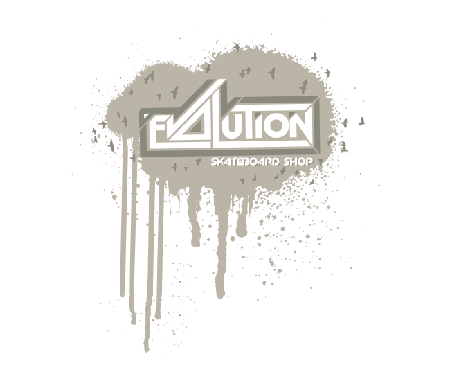 evolution skateboard shop brand logo design