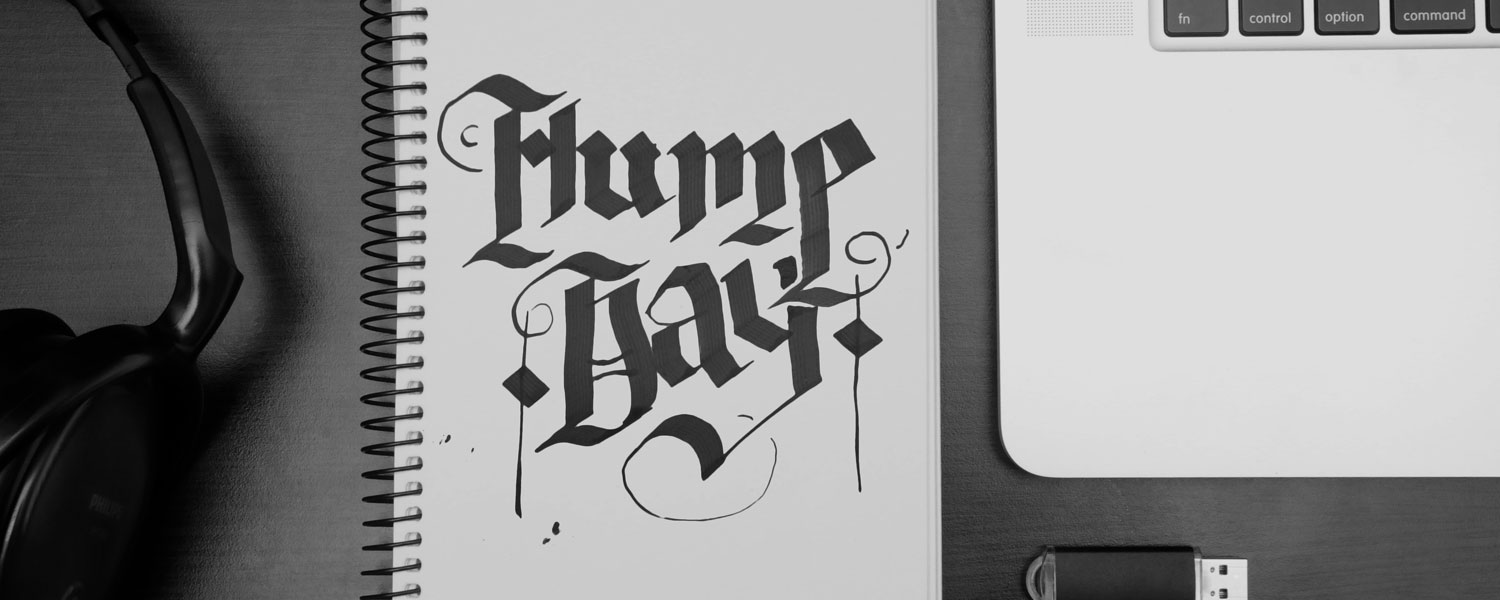 hump day graphic design layout
