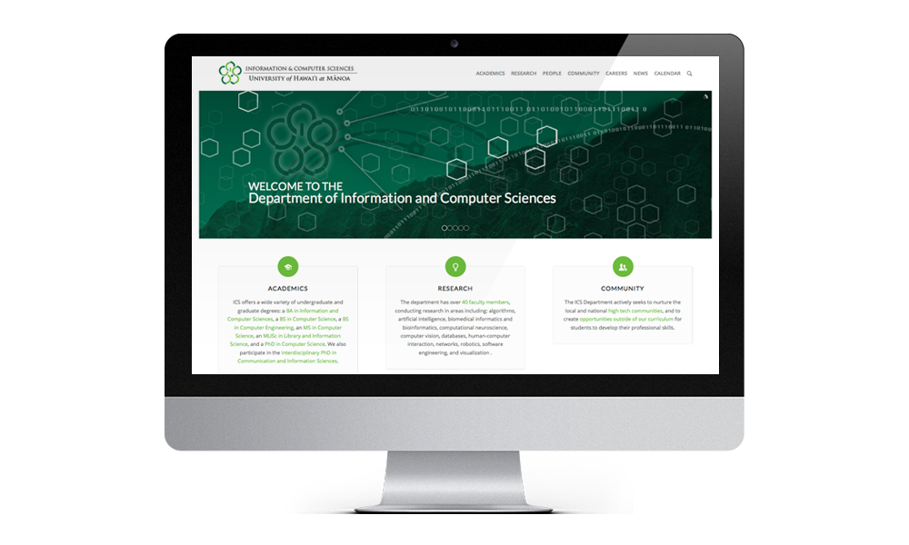 information and computer sciences web interface design layout