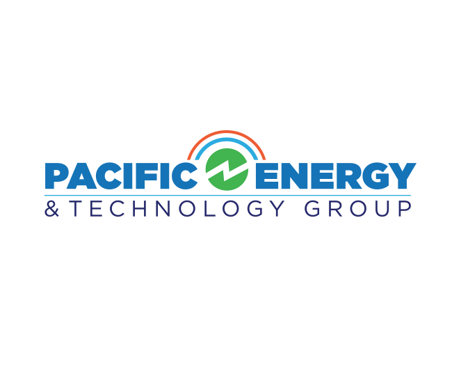 pacific energy and technology group brand logo design