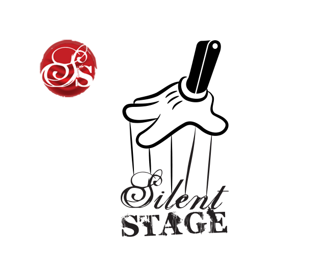 silent stage art dealer brand logo design