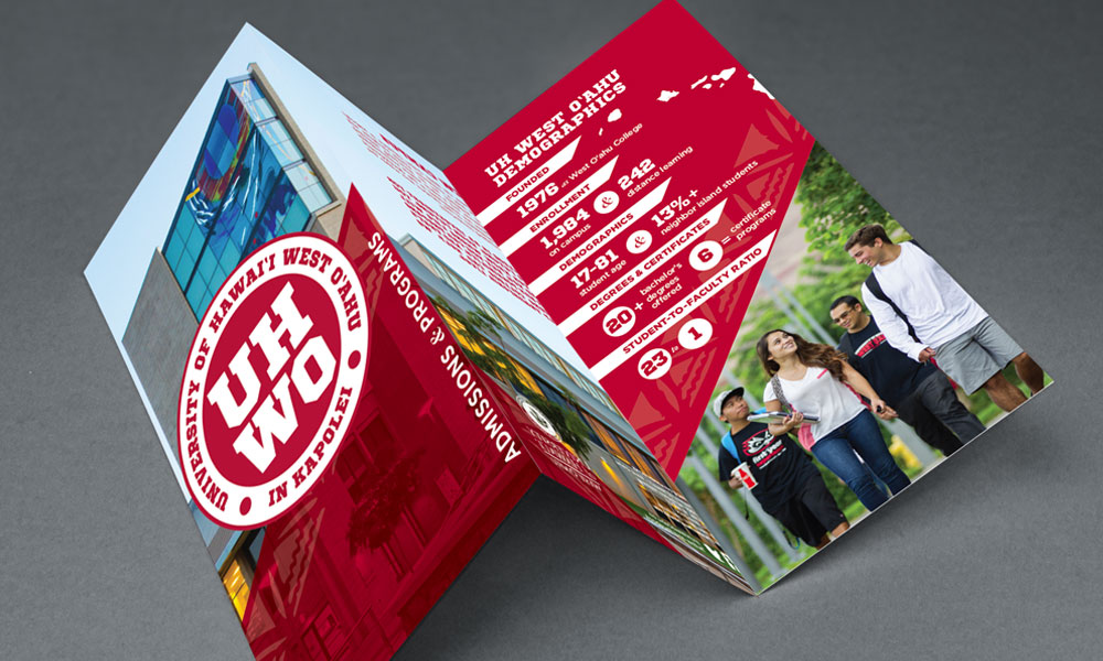 university of hawaii west oahu graphic design layout